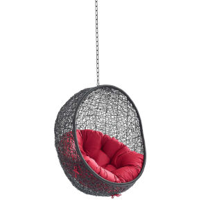 Darren Black and Red Swing Outdoor Lounge Chair Without Stand