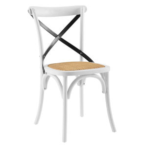 Hayden White and Black Dining Side Chair