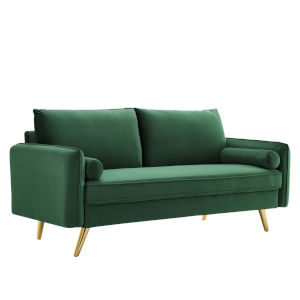 Vivian Emerald Upholstered Sofa