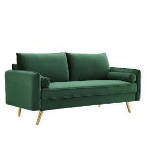 Vivian Emerald Upholstered Sofa