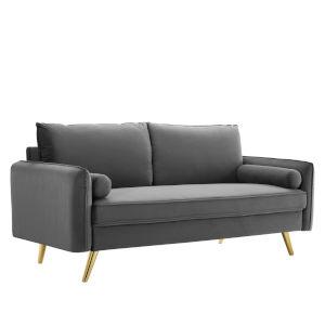 Vivian Gray Upholstered Sofa