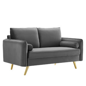 Vivian Gray Upholstered Loveseat