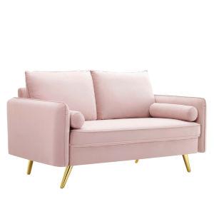 Vivian Pink Upholstered Loveseat