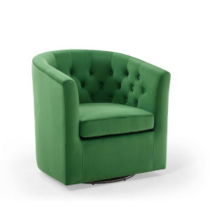 Vivian Emerald Swivel Arm Chair