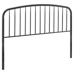 Selby Black King Metal Headboard