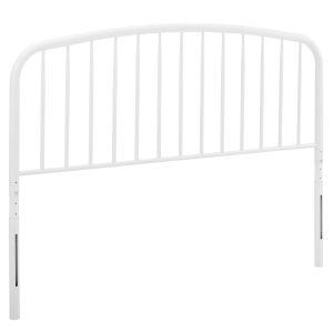 Selby White Queen Metal Headboard
