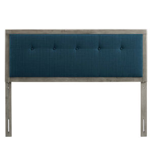 Whittier Gray Azure 23-Inch Tufted Wood Twin Headboard
