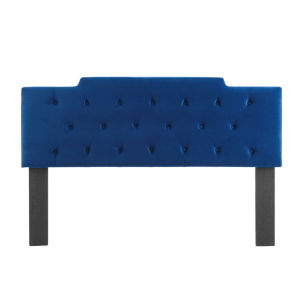 Vivian Navy Tufted Cal.King Performance Velvet Headboard