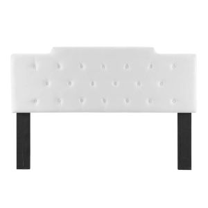 Vivian White Tufted Cal.King Performance Velvet Headboard