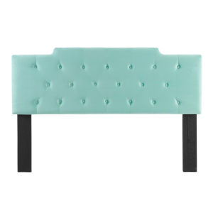 Vivian Mint Tufted Twin Performance Velvet Headboard
