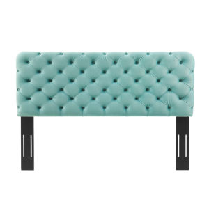 Monroe Mint Tufted Twin Performance Velvet Headboard