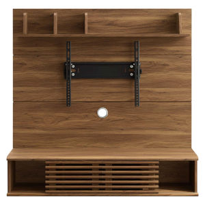 Uptown Walnut Wall Mounted TV Stand Entertainment Center