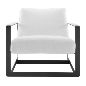 Monroe Black and White Upholstered Accent Chair