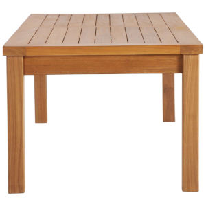 Roat Natural Outdoor Patio Teak Wood Coffee Table