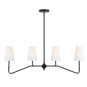 Elle Matte Black Four-Light Chandelier