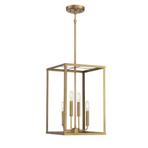 Fredrick Natural Brass Four-Light Pendant