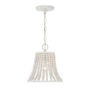 Hayden Weathered White One-Light Pendant