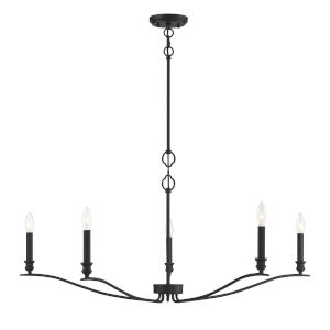 Nora Matte Black Five-Light Chandelier
