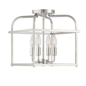 Anita Polished Nickel Four-Light Semi-Flush Mount