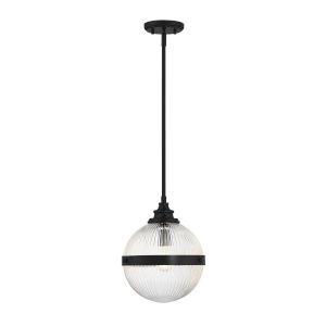 Ava Matte Black One-Light Mini Pendant