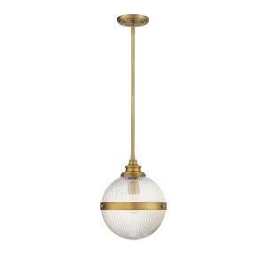 Ava Natural Brass One-Light Mini Pendant