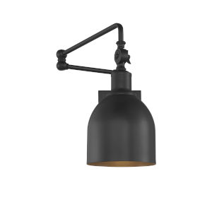 Isles Matte Black One-Light Wall Sconce