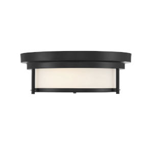 Whittier Matte Black Two-Light Flush Mount