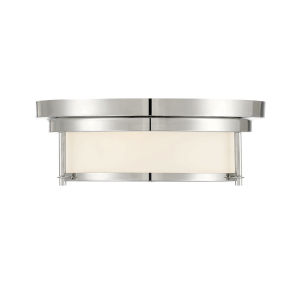 Whittier Polished Nickel Two-Light Flush Mount