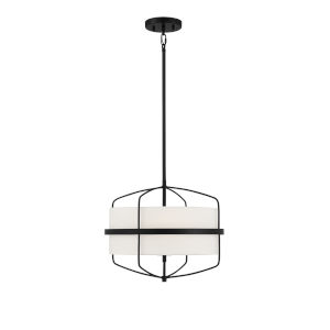 Castor Matte Black Three-Light Pendant