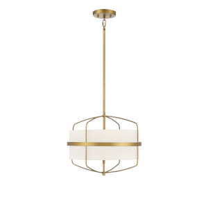 Castor Natural Brass Three-Light Pendant