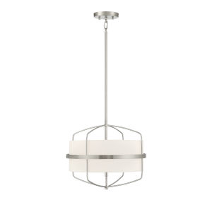 Castor Brushed Nickel Three-Light Pendant
