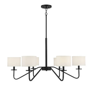 Uptown Matte Black Six-Light Chandelier