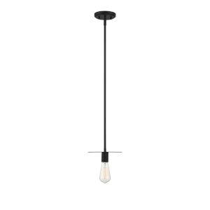 York Matte Black One-Light Mini Pendant