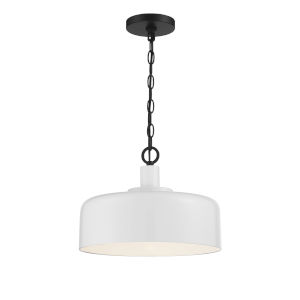Claire White and Black One-Light Pendant