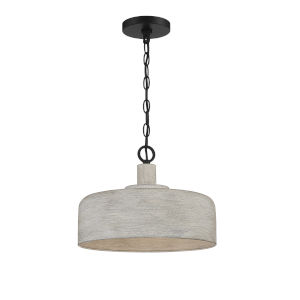 Claire Weathered Gray and Black One-Light Pendant