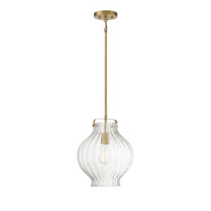 Sophia Natural Brass One-Light Pendant