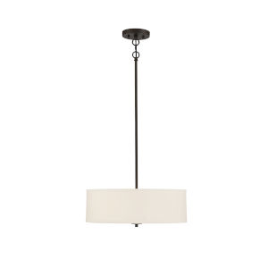 Pax Oil Rubbed Bronze and White Three-Light Pendant