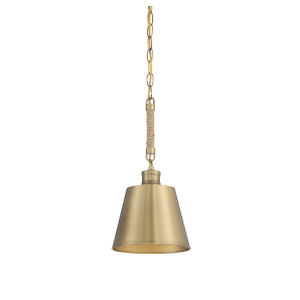 Pax Burnished Brass One-Light Mini Pendant