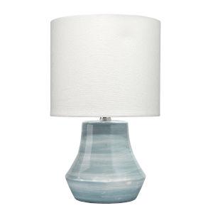 Blue White Swirl Ceramic One-Light Cottage Table Lamp
