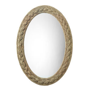 Natural Seagrass Lark Braided Oval Mirror