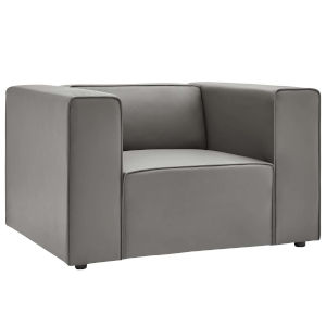 Vivian Gray Vegan Leather Armchair