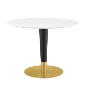 Cooper Gold Black and White 40-Inch Dining Table