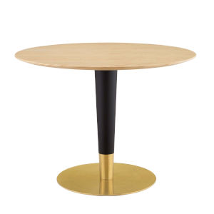 Cooper Gold, Black and Natural 40-Inch Dining Table