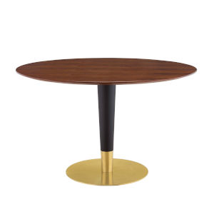Cooper Gold Black and Walnut 47-Inch Dining Table