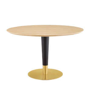 Cooper Gold Black and Natural 47-Inch Dining Table