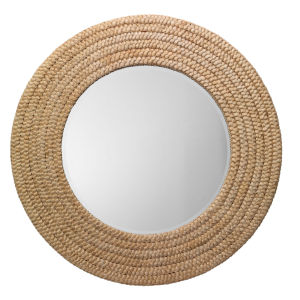 Grace Natural and White Wall Mirror