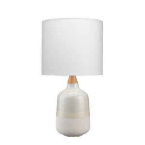 Cora Greige and White One-Light Table Lamp