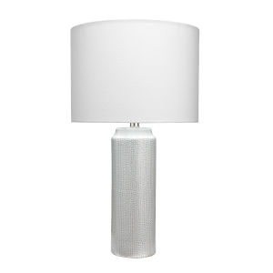 Cora Gray and White One-Light Table Lamp