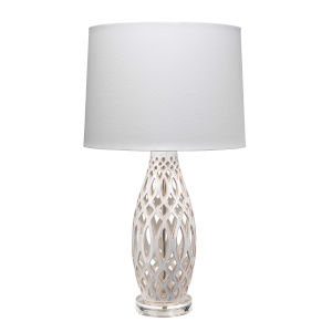 Cora Cream and White One-Light Table Lamp