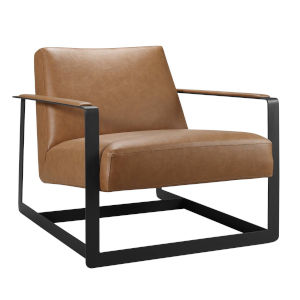 Uptown Tan and Black Upholstered Accent Chair